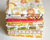 Vintage Sheet Fat Quarter Bundle - Fall Autumn Mix - Set of 12