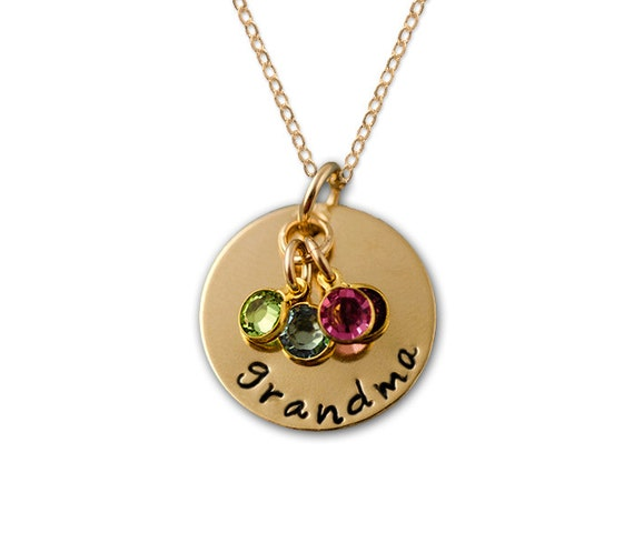 Grandma necklace gold grandma necklace grandma birthstone for Grandmother jewelry you can add to