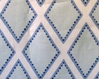 BROOKHAVEN chambray Geometric linen   by KRAVET blues on white out of stock till May 6th