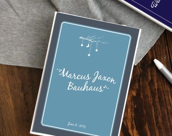 Personalized Baby Memory Book to Document Baby's First Year for Baby Boy