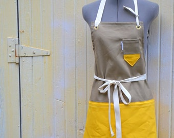 Canvas Utility Apron Two Toned 7-10 Day Processing Time