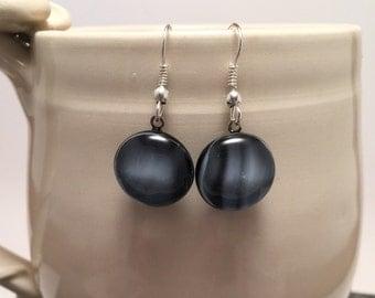 Fused glass, fused glass jewelry, glass earrings, handmade fused glass, Fused Glass earrings, dangle earrings