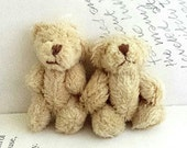 1pair Extra Fluffy Brown Teddy Bear Miniature Toy (4cm)