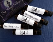 FIVE Artisan Perfume Samples: Your choices, DEEP MIDNIGHT Perfume Oils, perfume oil
