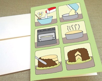 Baking a Cake Greeting Card