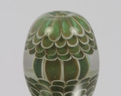 Green Carousel Lampwork Focal Bead Handmade in the UK SRA