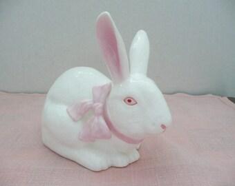 Andrea by Sadek Fine Bone China White Rabbit Figurine