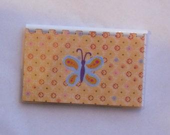 Handmade Blue Butterfly Blank Recipe book