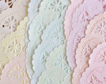 4 INCH | Shabby Rustic Hand Dyed Paper Lace Doilies | You Choose the Quantity, Style & Color [Or Color Combination] - Party Decor