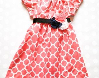 Size 3 months - Ready to ship - Spring Dress - Spring Dress - Girls Dress - Baby Girls Dress - Baby Girls Dresses - Girls Dresses - Blush