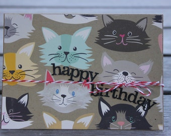 Cat Lover's Birthday card-Let's Party