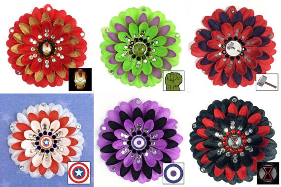 Avengers Value Pack Penny Blossom Rhinestone Flower Hair Barrettes