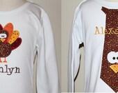 Coordinating Turkey Sibling Shirts