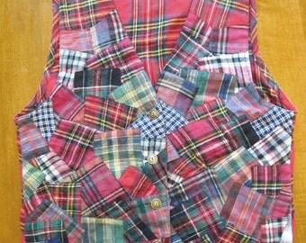 Royal Stewart tartan flannel vest