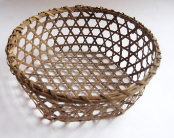 original antique shaker cheese basket small