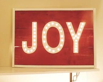 Custom Color JOY Marquee Sign