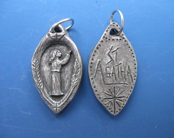 St. Agatha: Patron of Breast Cancer Patients and Those Cured, Handmade Medal