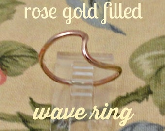 Rose Gold Filled Wave Ring