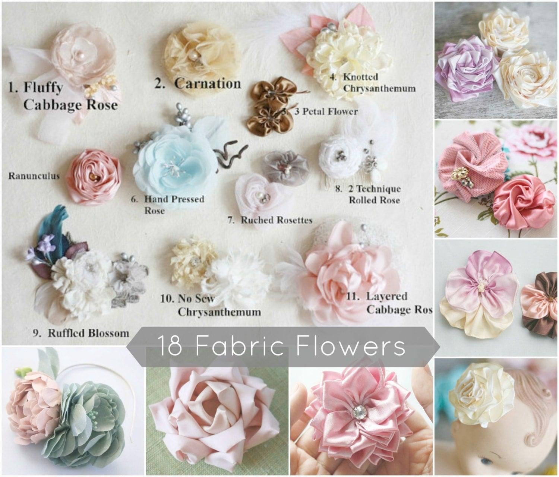 18 Fabric Flower Tutorials Fabric Flower Patterns Flower Sewing