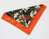 CHOOSE your COLORS and SIZE Personalized Double Minky Blanket or Lovey, Camo, Camouflage