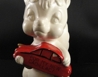 Skunk Ceramic Bank For My New Cadillac