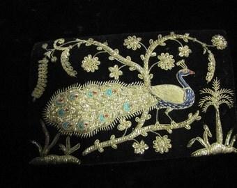 Peacock Velet clutch purse