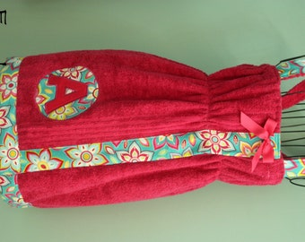 Spa Wrap Fitted; adult or child; empire waist; your choice of fabric and towel color