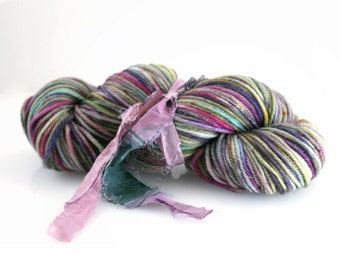 Hand dyed Yarn, Superfine SW Merino Addison Worsted Gypsy Romance hand dyed 194 yards
