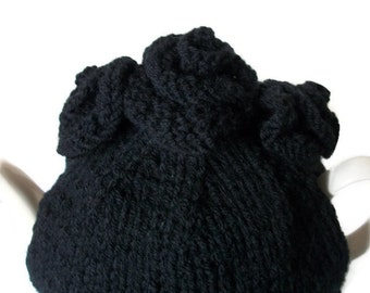 Hand Knitted Tea Cosy Victoriana  Goth Gift Victorian Floral