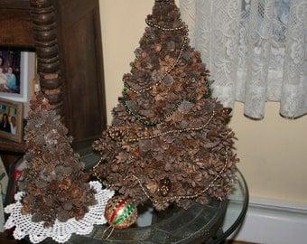 Coastal Shores Rustic Natural Pine Cone Christmas Tree Small