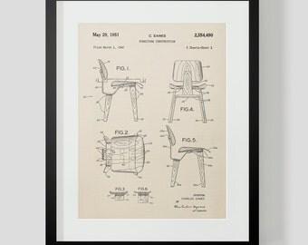 Eames Chair Patent Print