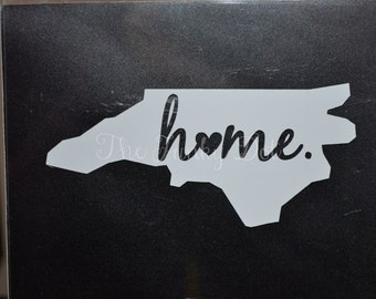 "State ""Home"" Decal, State Love Car Decal, Any State"