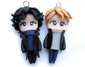 ONLY 2 PAIRS LEFT- Sherlock and John - Miniature Sculpture - Charm Figurine