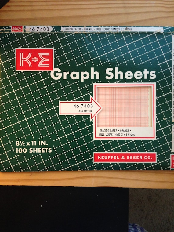 vintage graph tracing paper pack of 100 sheets