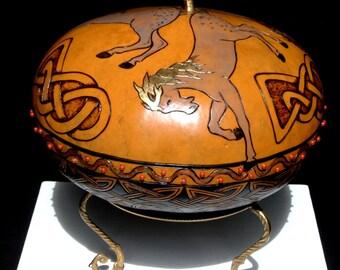 Celtic Horses Gourd