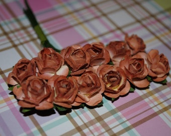 24- Toffee paper flowers roses