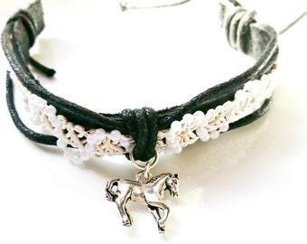 Horse Bracelet Leather Bracelet Country Girl - Birthday Teen Girl Tween Girl Women Sale Jewelry R24