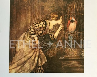 Arthur Rackham: Mary Colven An Original Book Page Illustration from Vintage 1975 Book