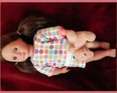 "Doll Pajamas & Teddy Bear for American Girl 18"" doll shorty jammies hearts"