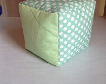 Baby bean bag block toy green