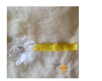 NEW PRODUCT Yellow infant tutu and headband set