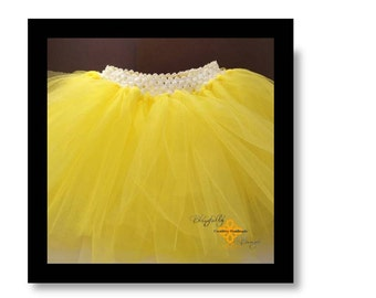 sunshine yellow little girl tutu