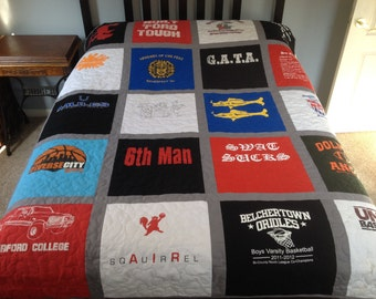 Tshirt Quilt - 20 shirts - Twin Size