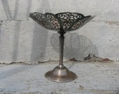 silver plated compote lovelace international silver company shabby old world