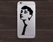 Audrey Hepburn Vinyl iPhone Decal BAS-0109