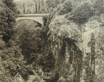 Antique French Postcard - Valley of Mandailles, Aurillac, Auvergne, France