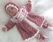"PDF Knitting Pattern to fit 18""-22"" Reborns or 0-3 month Baby"