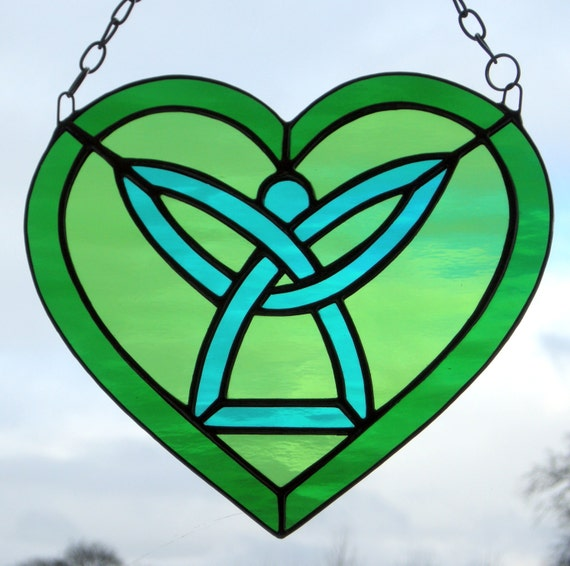 Stained Glass Celtic Angel Heart......in light medium and
