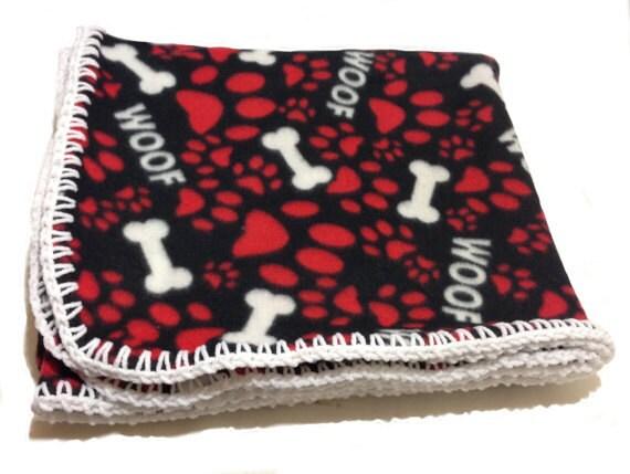 Dog Paw Fleece Blanket