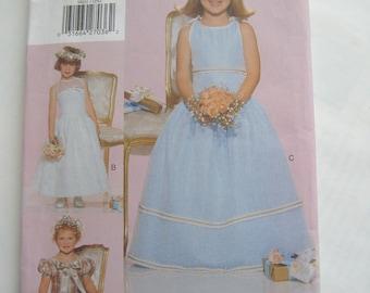 Vogue for Me Pattern 9801, Children's Dress, Flower Girl Size 5-6-6X  Uncut